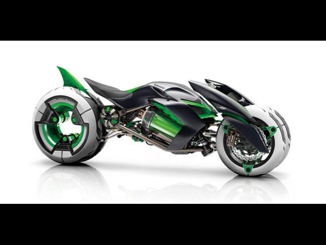 """Kawasaki dévoile son concept de moto électrique """"J"""""""