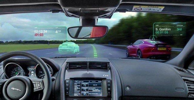 Un concept de pare-brise à réalité augmentée par Jaguar