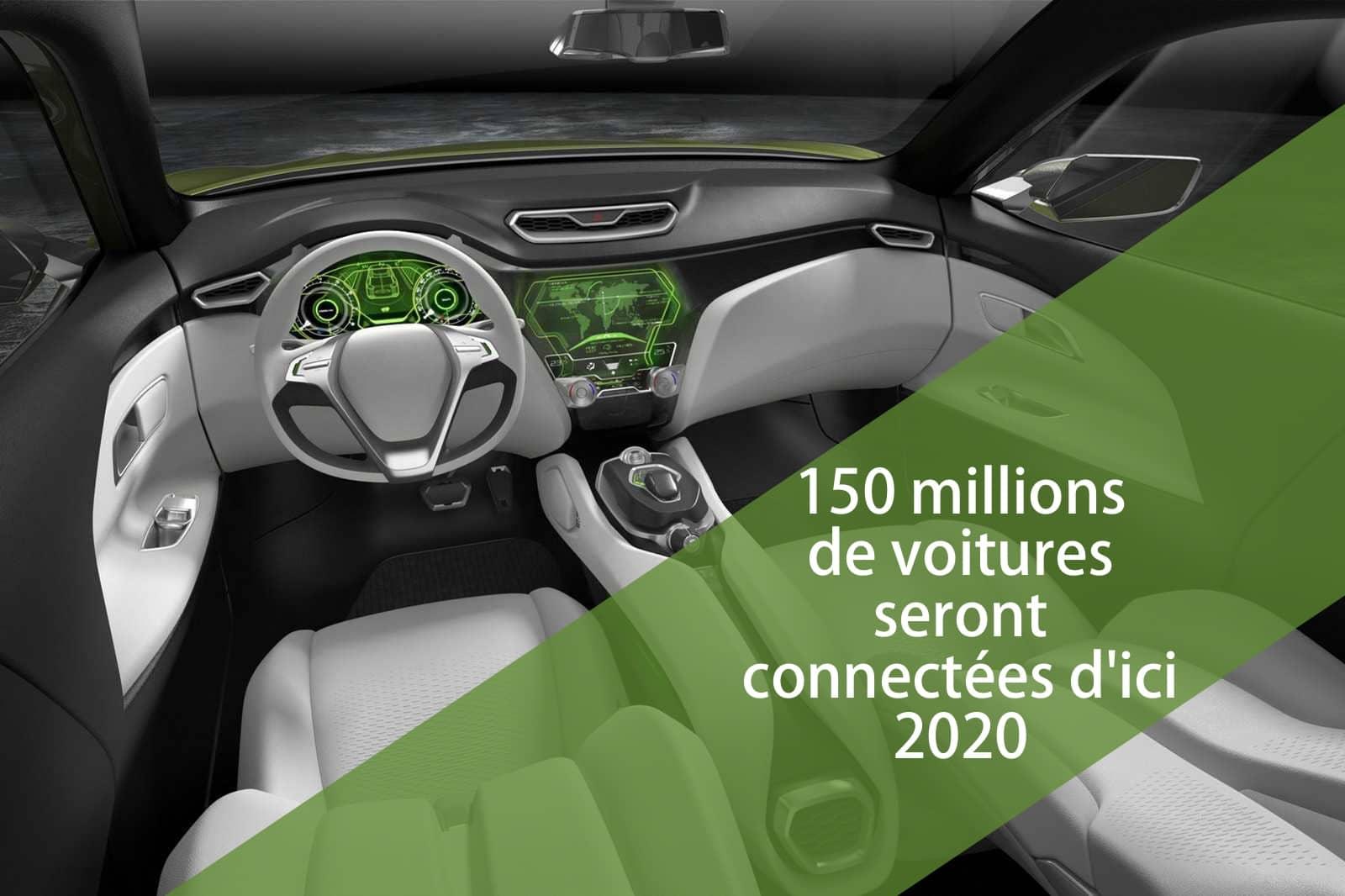 Plus de 150 millions de voitures seront connectées à internet d'ici 2020