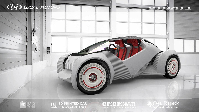 Une voiture électrique imprimée en 44 heures