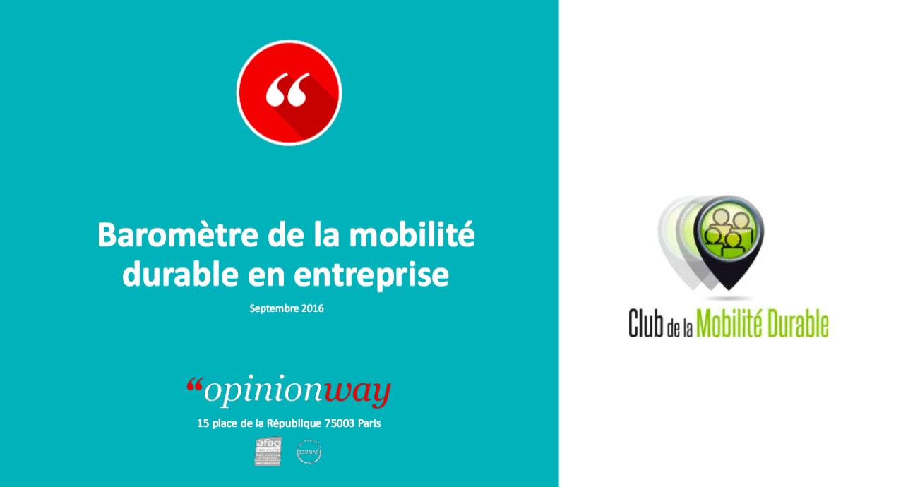 Baromètre de la Mobilité Durable : 80% des salariés et des dirigeants d'entreprises plébiscitent l'autopartage