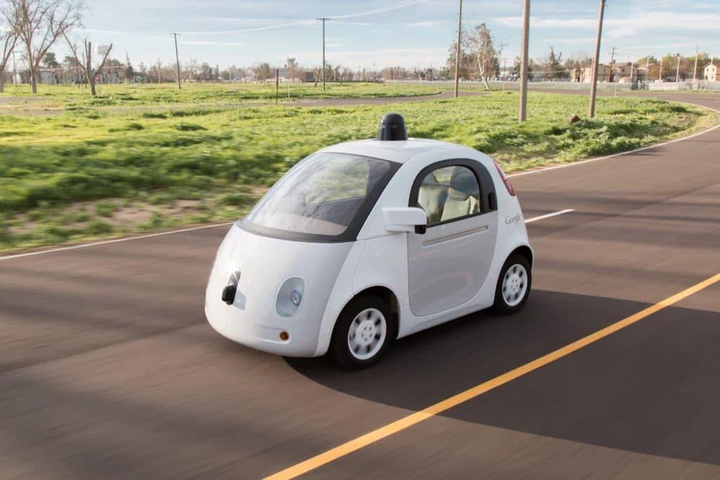 Un des premiers modèles de véhicules autonomes de Google