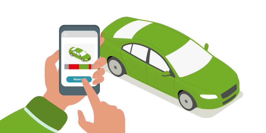 Carsharing real estate app