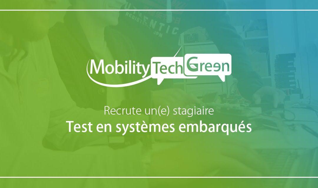 Mobility Tech Green recrute un(e) stagiaire test en systèmes embarqués