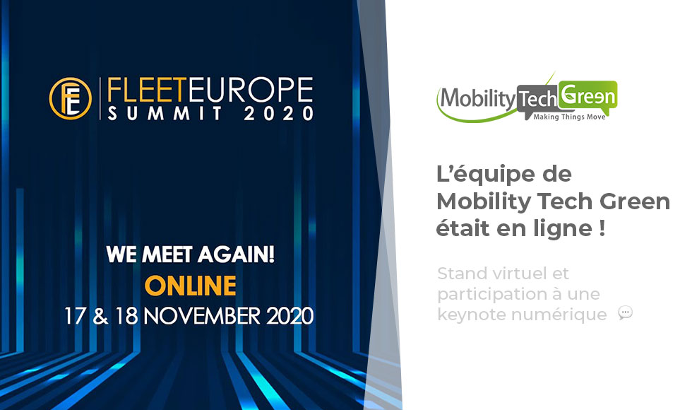Fleet Europe Summit 2020 : Mobility Tech Green était en ligne !