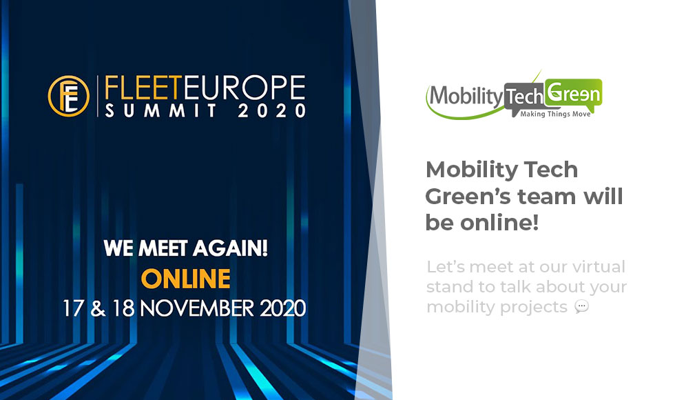 Fleet Europe Summit 2020: Mobility Tech Green will be online!